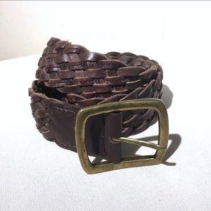 Nine West brown leather belt - Size M